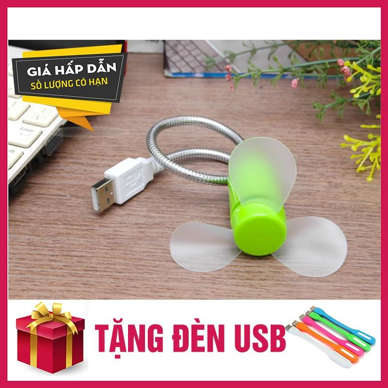 Hình ảnh Quat USB than deo 3 canh tien dung gia re + tặng đèn USB
