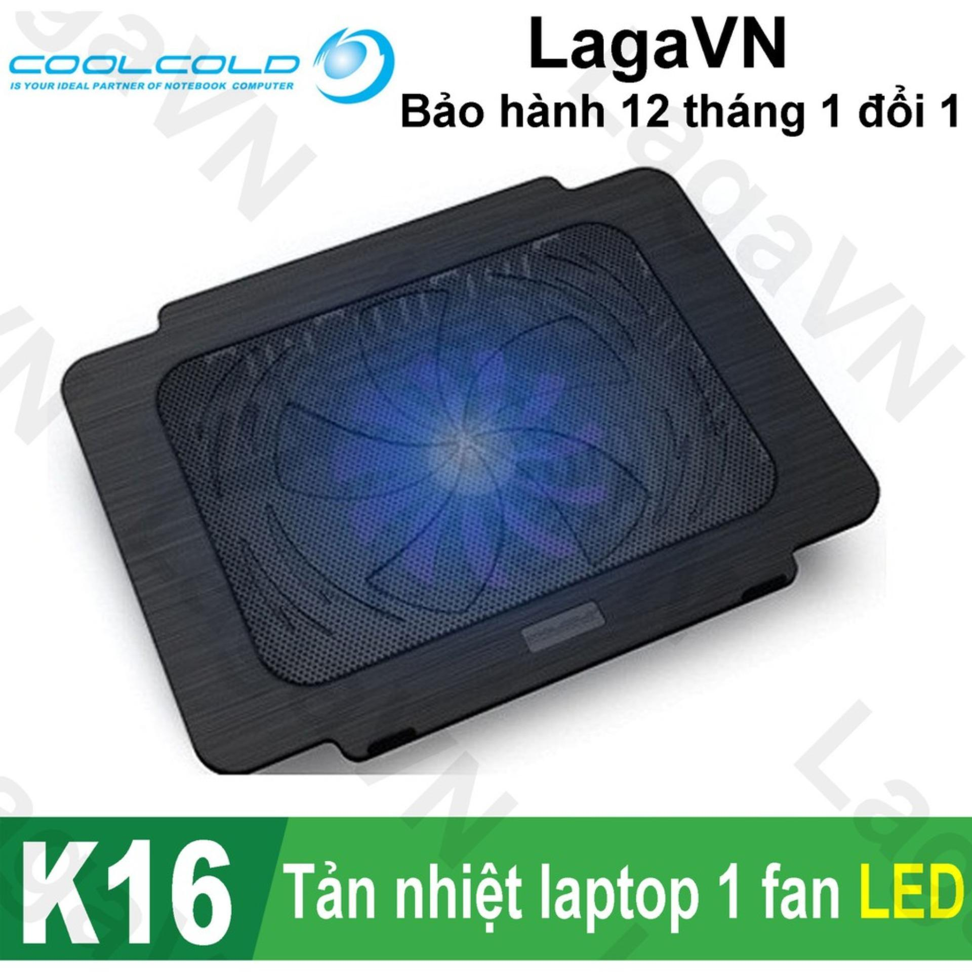 Hình ảnh Đế tản nhiệt laptop COOLCOLD Thin Ice K16 (Đen)