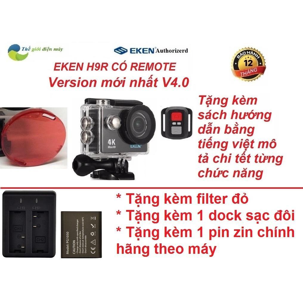 Mua Camera Thể Thao Eken H9R Co Remote Version 4 Tặng Filter Đỏ Dock Sạc Đoi Va Pin 1050