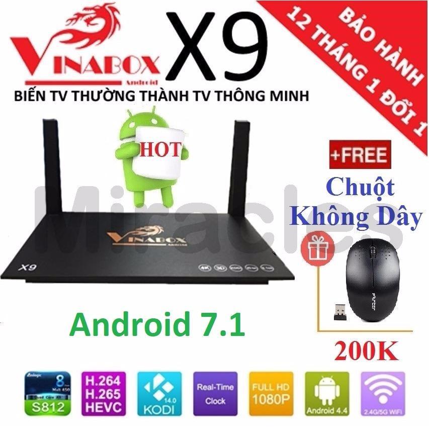 Mua Android Tivi Box Vinabox X9 New 2018 Android 7 1 Tặng Chuột Khong Day Trị Gia 200K Phan Phối Bởi Miracles Company Vinabox Nguyên