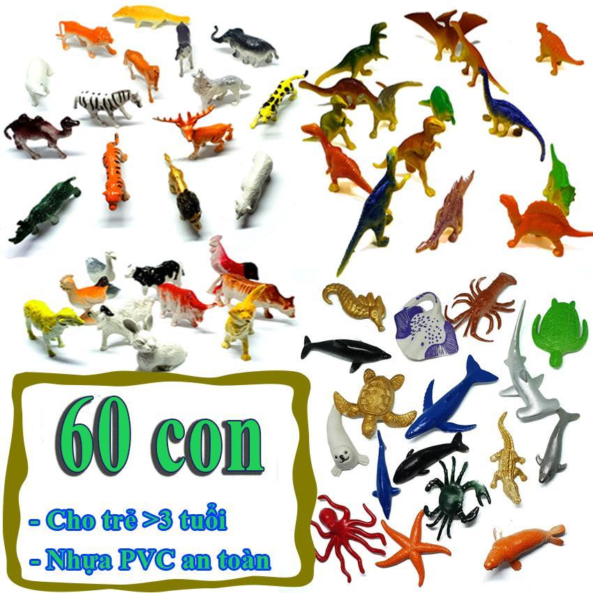 Hình ảnh Mô hình đồ chơi 60 chi tiết Animal Dinosaur Sea Worldnhựa PVC an toàn - New4all