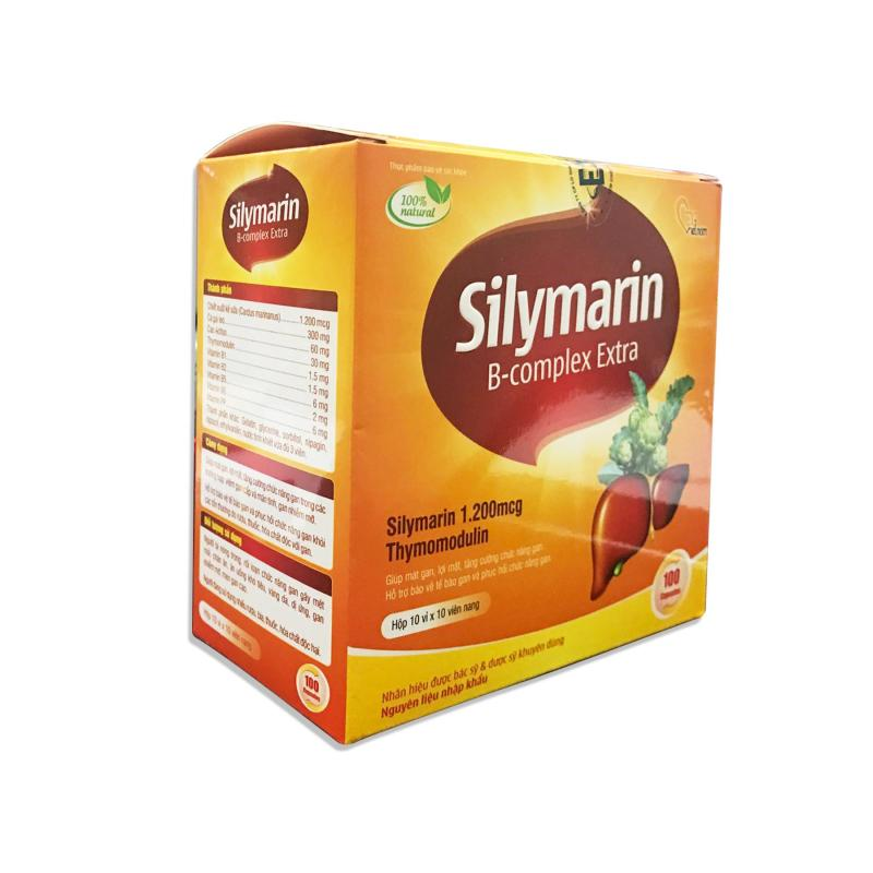 Thực phẩm chức năng tăng cường chức năng gan Silymarin B-complex Extra cao cấp