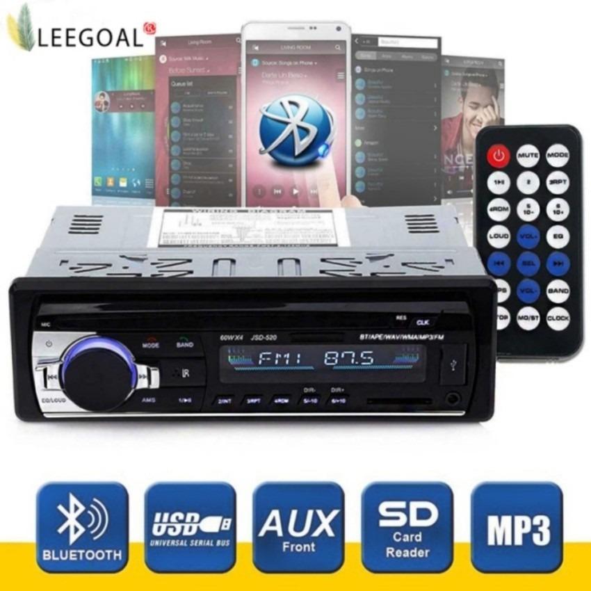 Bộ thu âm thanh stereo không dây kết nối Bluetooth dùng cho xe hơi hiệu niceEshop, bộ thu Đơn DIN 12 v FM có điều khiển từ xa, máy nghe nhạc MP3 trong xe, support đầu vào Aux, thẻ TF, USB