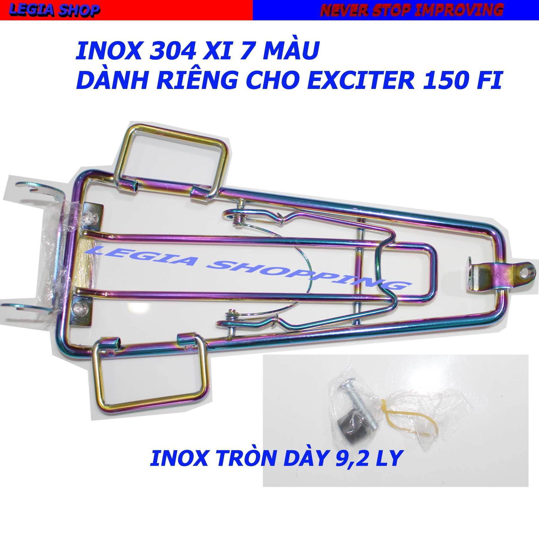 Bán Mua Baga Inox Xi 7 Mau Gắn Xe Yamaha Exciter 150 Loại 10 Ly