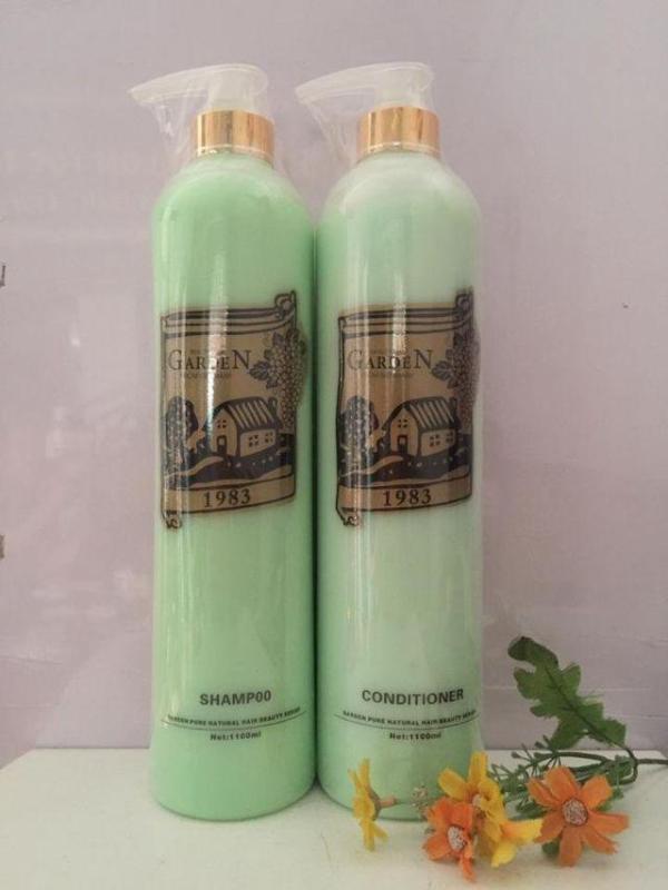 Cặp dầu gội,xả chống gầu giúp tóc mềm mượt Garden Đức (1100ml +1100ml)