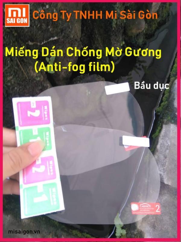 2 Miếng dán NANO film chống tụ nước mờ GƯƠNG Xe Hơi (ANTI- FOG FILM hình Bầu Dục)