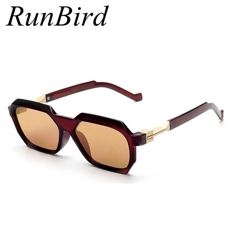 880ad1020c RunBird High Quality Rectangle Sunglasses Men Brand Designer Men Coating Sun  Glasses Fashion Oculos De Sol