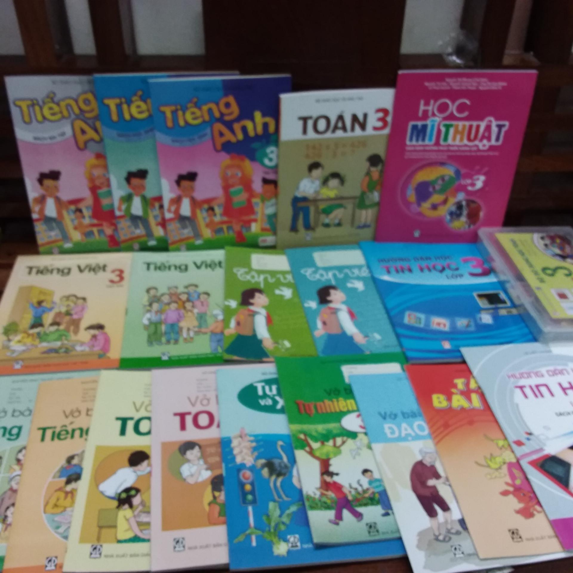 Mua Trọn Bộ sách giáo khoa lớp 3 ( gồm 20 cuốn +1 bộ đồ dùng học toán )