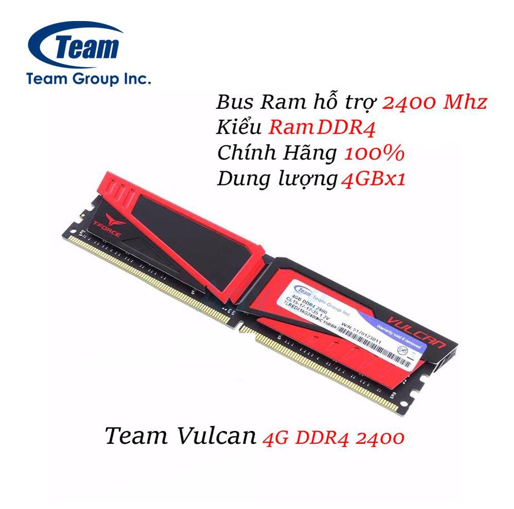 Mã Khuyến Mại Ram May Tinh Team 4G Vulcan Nddr4 2400 Hồ Chí Minh