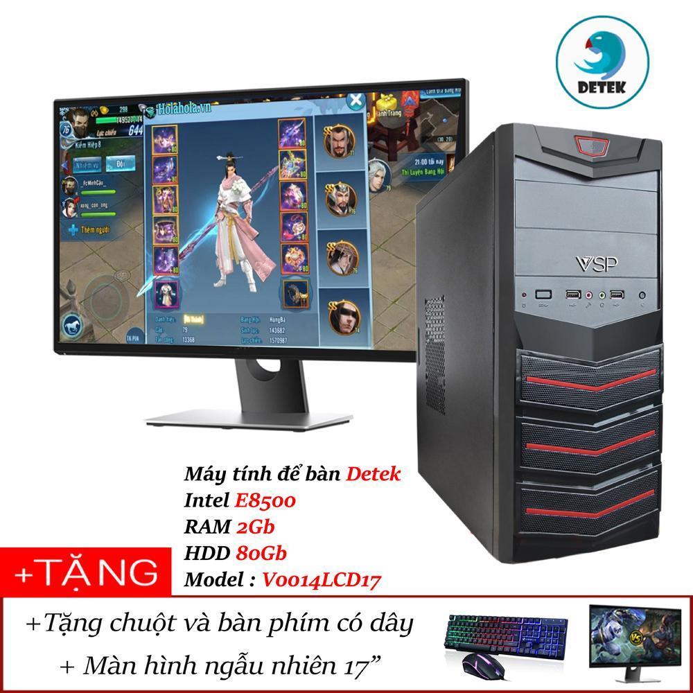 Hình ảnh Bộ Máy tính để bàn Detek - Intel E8500 RAM 2Gb HDD 80Gb Model : V0014L kèm màn hình LCD 17 INCH và bộ bàn phím chuột có dây