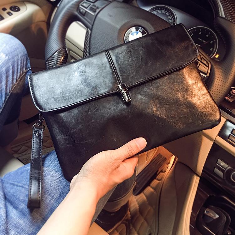 Lock Fashion Clutch Korean Style Mens Handbag Mens Bag Business Hand Envelope iPad File Bag