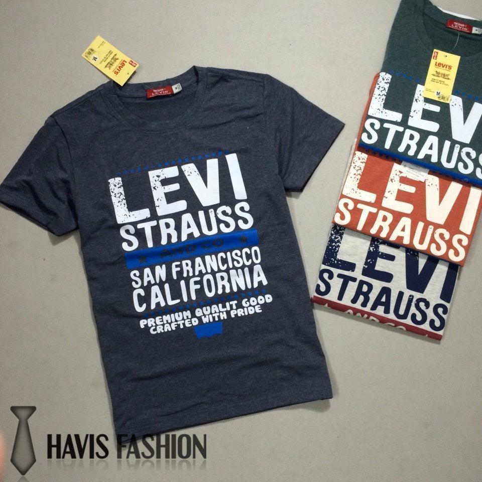 Áo thun nam Levi cổ tròn hàng xuất khẩu cực đẹp ASTD007 ( nhiều màu )