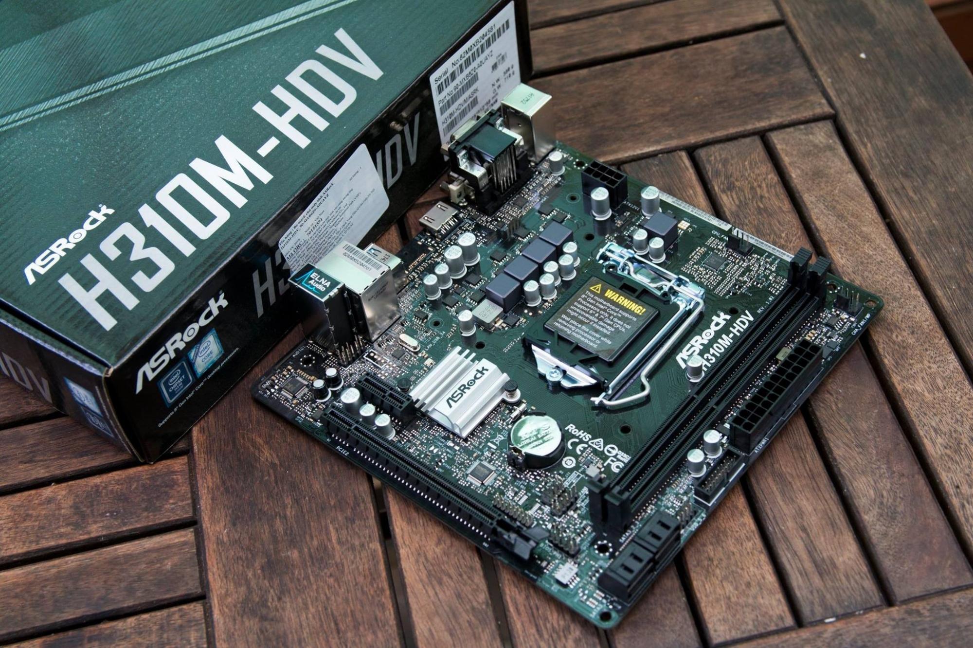 Hình ảnh Mainboard Asrock H310M-HDV ( Đen )