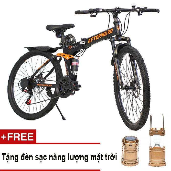 Xe đạp địa hình gấp AfterWard + Tặng đèn sạc, bơm và khóa chống trộm