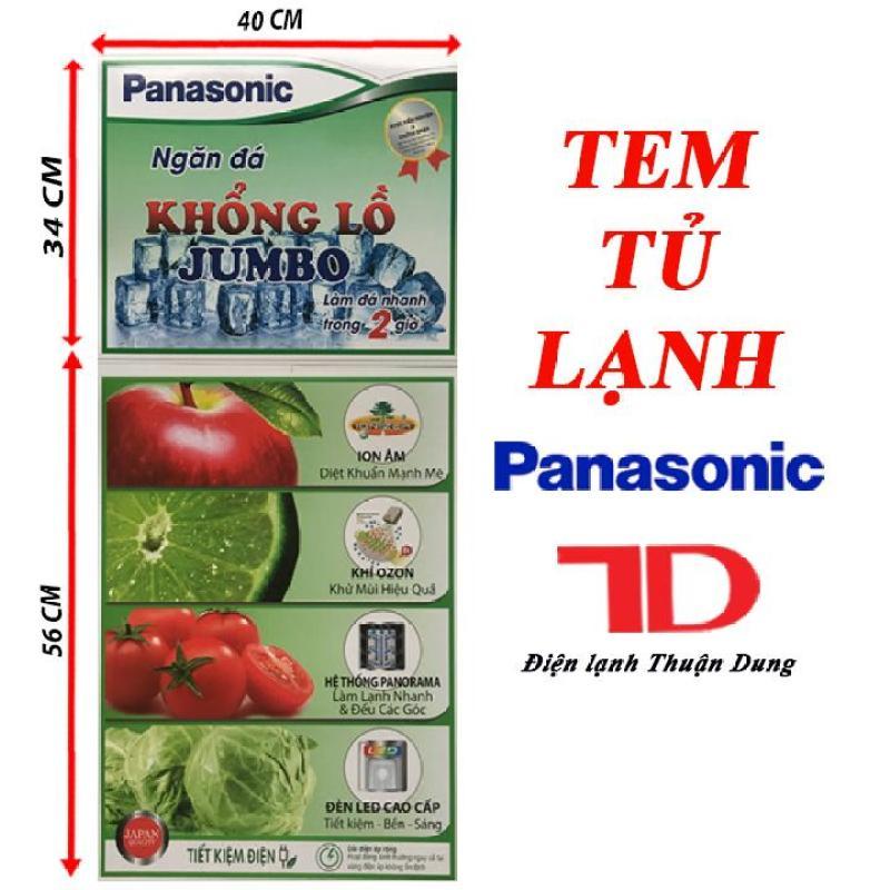 TEM DÁN TỦ LẠNH PANASONIC - TẶNG KÈM BĂNG KEO 2 MẶT