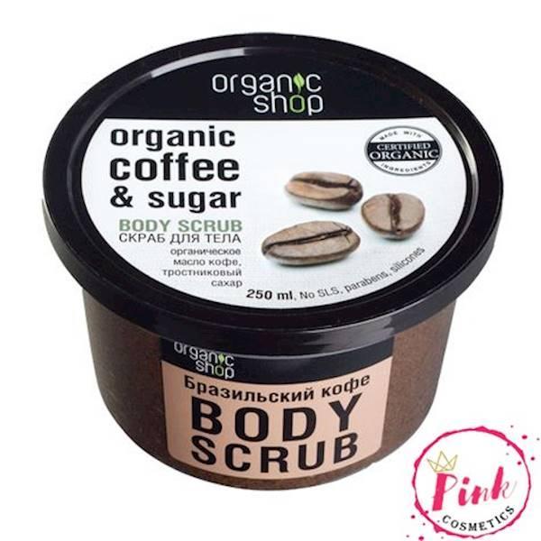 Hình ảnh Tẩy Da Chết Body Organic Shop Dưỡng Da Trắng Sáng Của Nga
