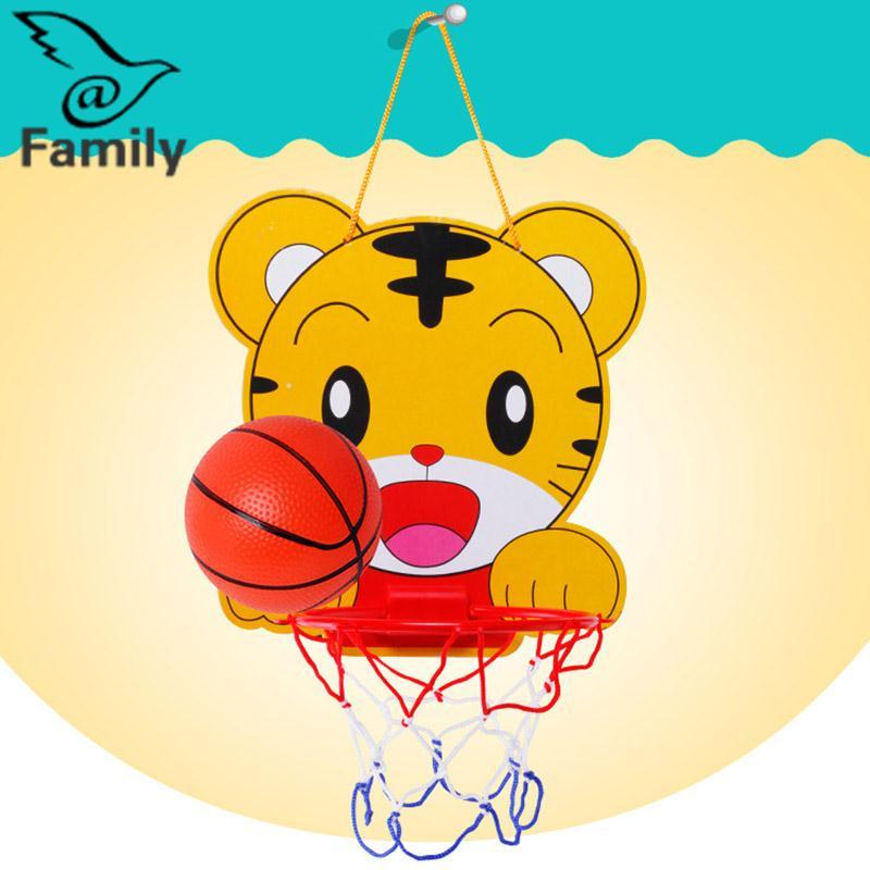 Hình ảnh Big Family:Baby Sports Indoor Outdoor Mini Backboard Basketball Hoop Net Toy Gift Pump Set - intl