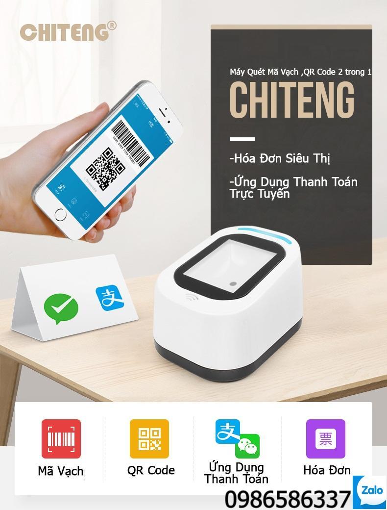 Hình ảnh Máy quét mã vạch, QR code ChiTeng T97 hỗ trợ thanh toán qua màn hình mobile