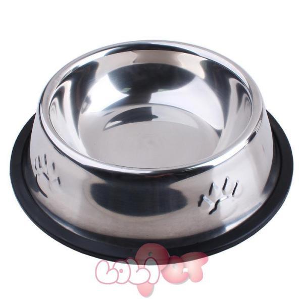 Bát / chén ăn inox chống lật size 3 dành cho chó 7 đến 20kg - sunzin hn 353c