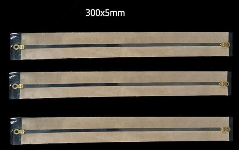 3 bộ dây nhiệt và màng chống dính thay thế máy ép miệng túi nhựa nilon 300x5mm