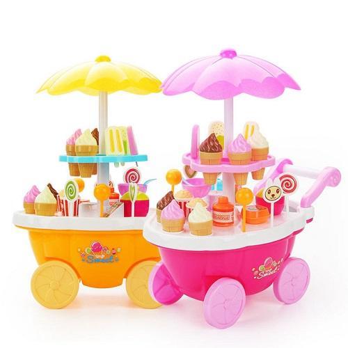 Hình ảnh đồ chơi xe kem có nhạc,đèn, đồ chơi xe kẹo, đồ chơi bé bán kẹo cao cấp Tg6781