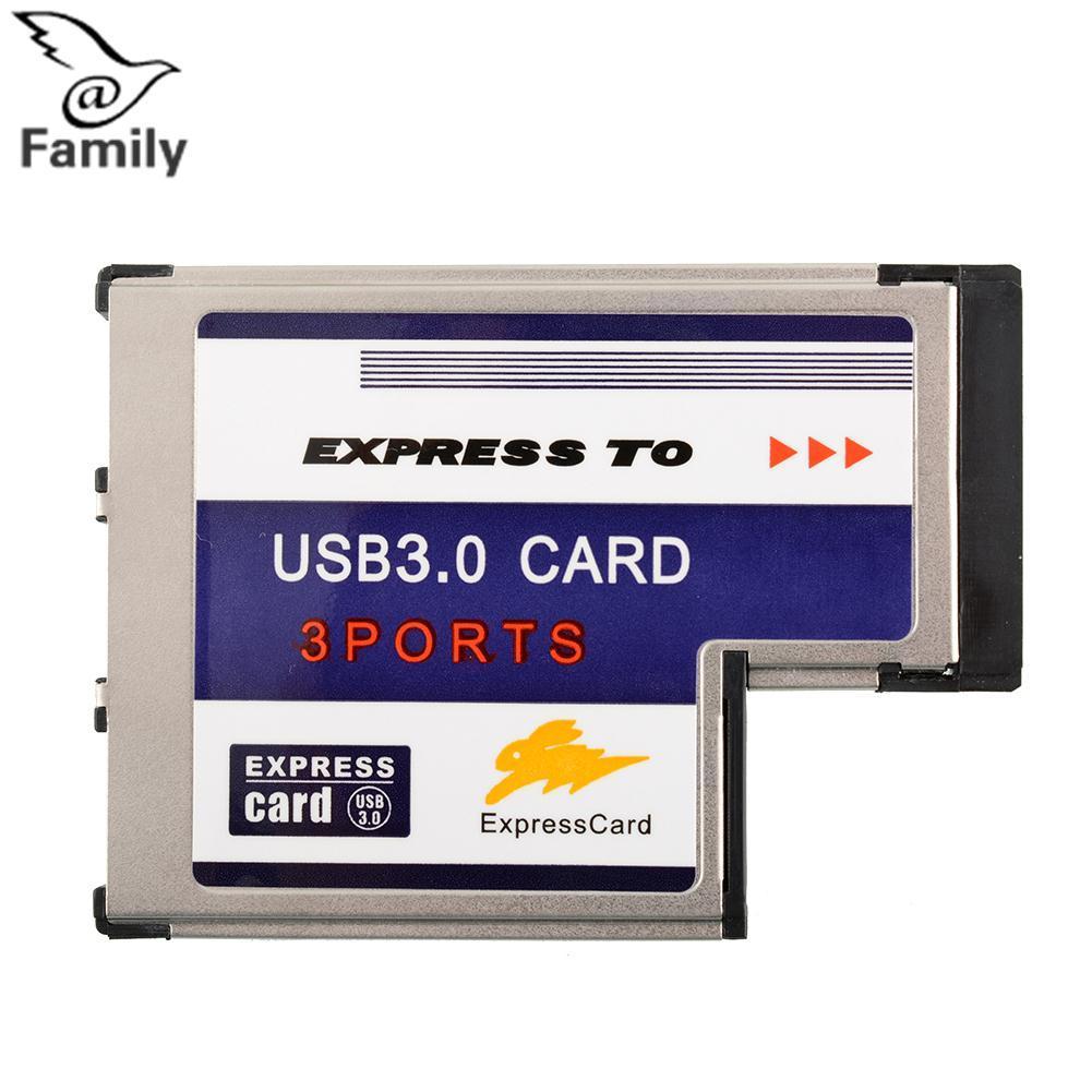 Hình ảnh Big Family:New High Quality 54mm Express 3 Ports USB3.0 Card Adapter for Computer - intl