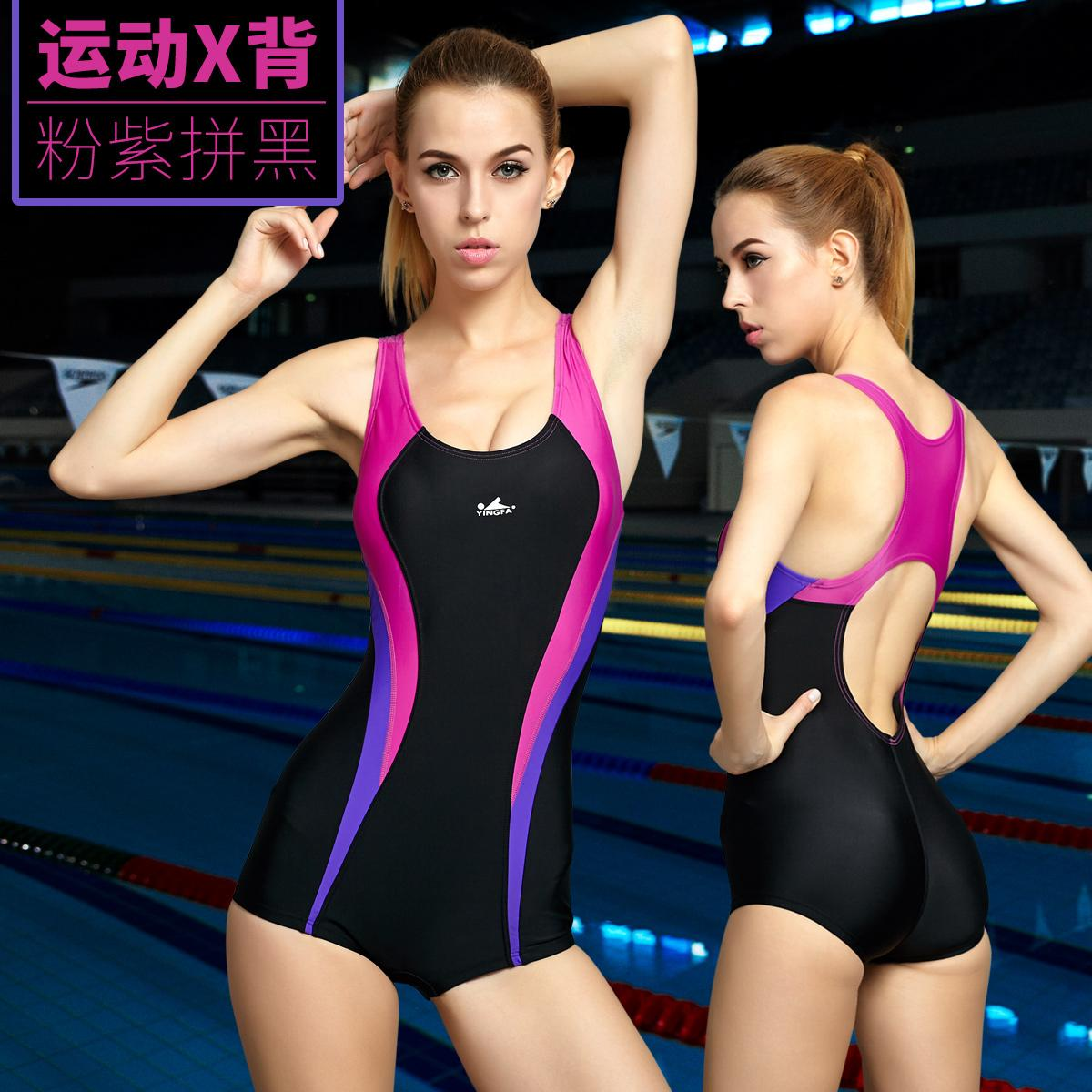 b306ab5cf6e Yingfa Bathing Suit women Hot Springs Sexy One-piece Swimming Suit  Conservative Boxer Slimming Profession