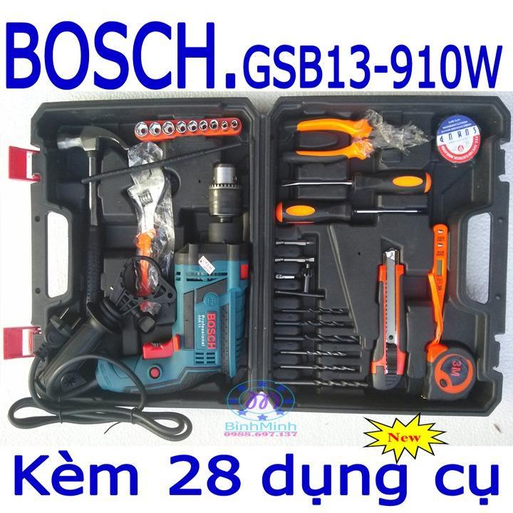 Hình ảnh Máy khoan BOSCH GSB13+bộ 25 dụng cụ bo may khoan bosch bo may khoan da nang