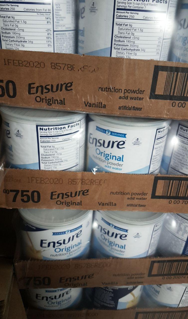 date 2.2020 Sữa ensure chuẩn Mỹ  bill 397g