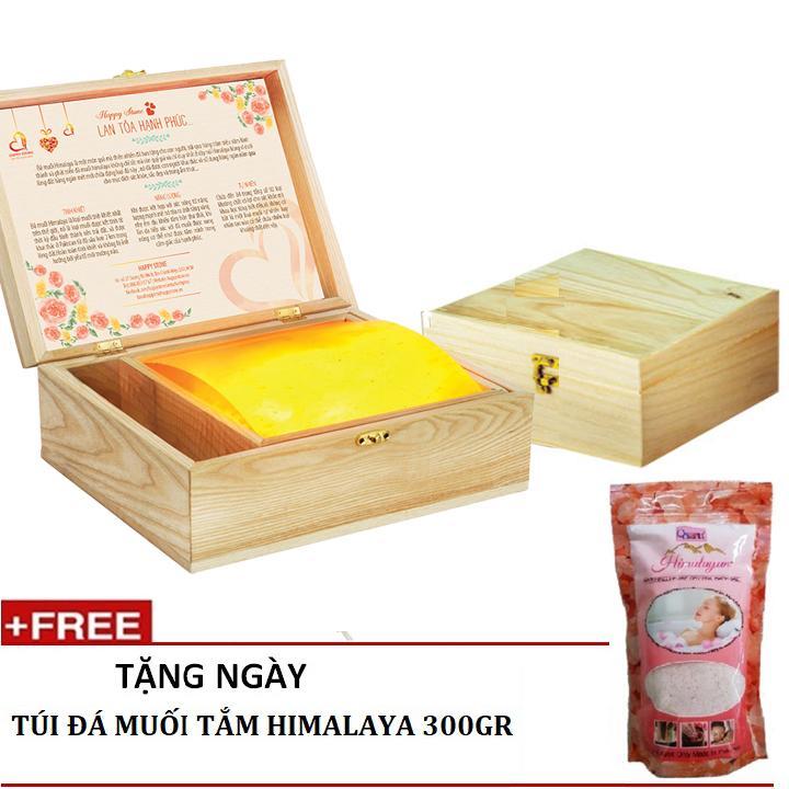 Hộp Đen Đa Muối Hồng Mặt Cong Massage Tặng 1 Tui Muối Tắm Himalaya 300Gr Nông Sản Vàng Chiết Khấu 30