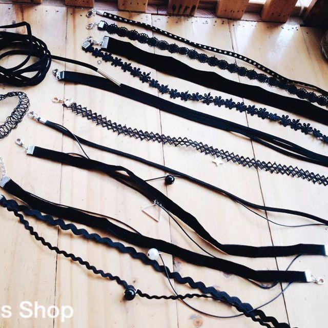 Hình ảnh Bộ 12 vòng cổ choker thời trang