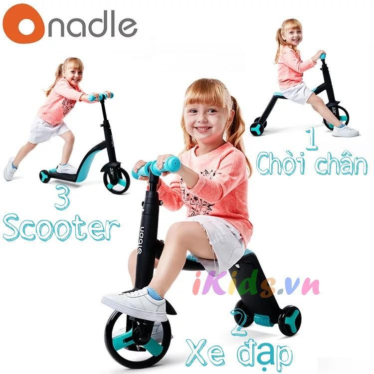 Xe Scooter Nadle 3 trong 1
