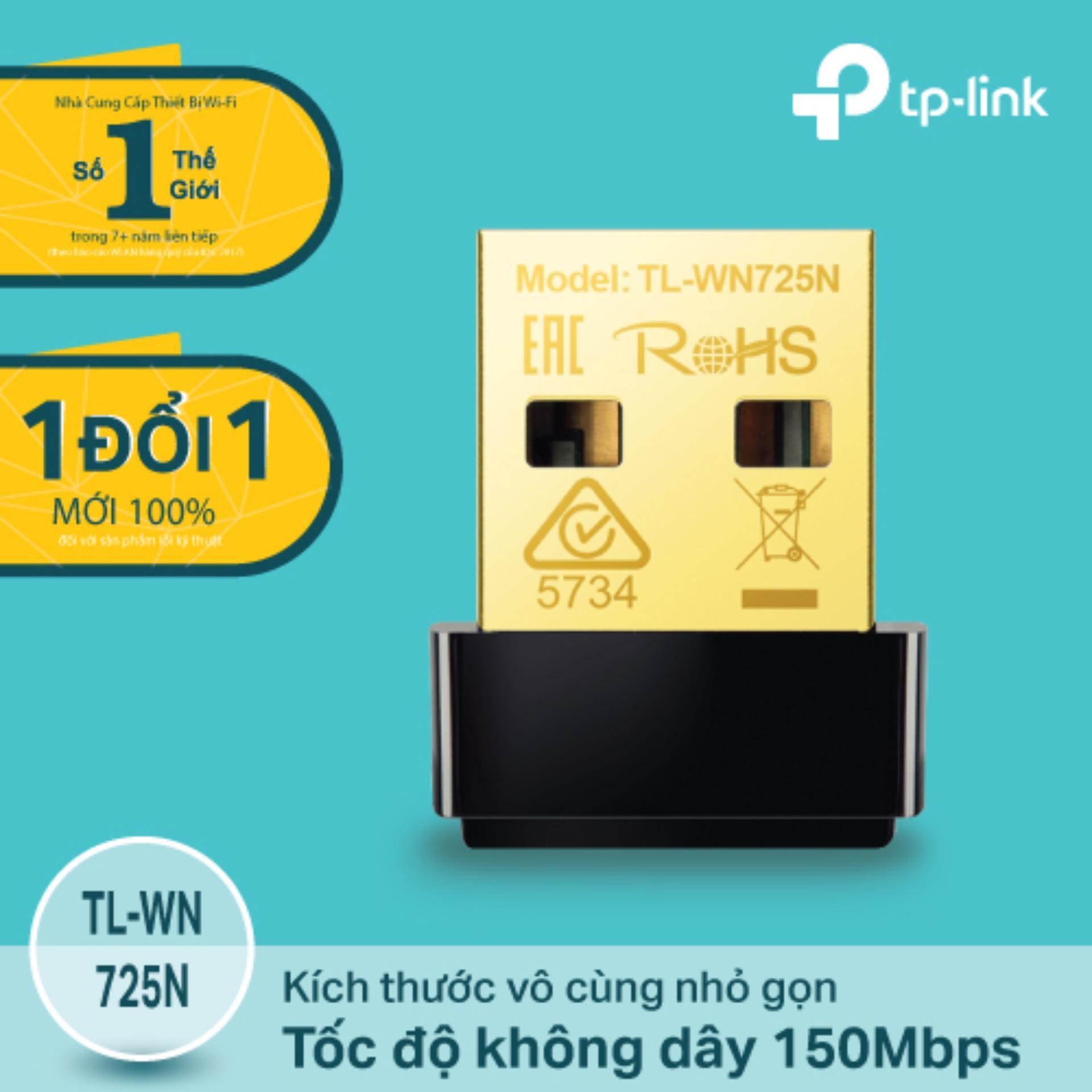 Chiết Khấu Tp Link Tl Wn725N Usb Kết Nối Wi Fi Chuẩn N 150Mbps Sieu Nhỏ Gọn Hang Phan Phối Chinh Thức