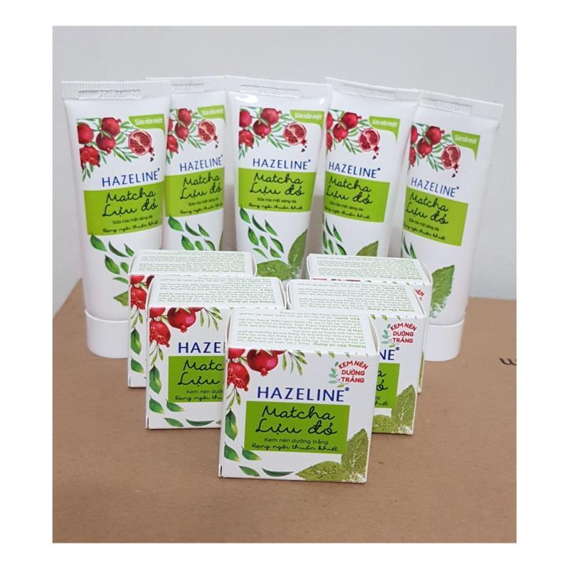 Combo 6món (3Sữa rửa mặt Matcha lưu đỏ 15g & 3kem nén Matcha lưu đỏ 3g) nhập khẩu