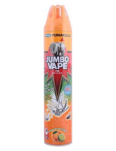 Hình ảnh Bình Xịt Muỗi Jumbo Vape FIK Hương Cam Chanh 100712620 (600ml)