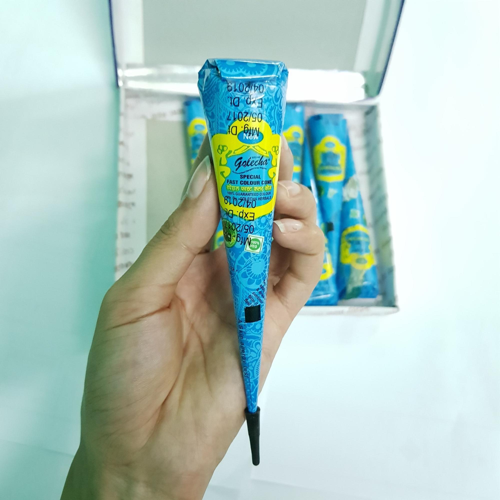 Mực vẽ Henna màu xanh dương