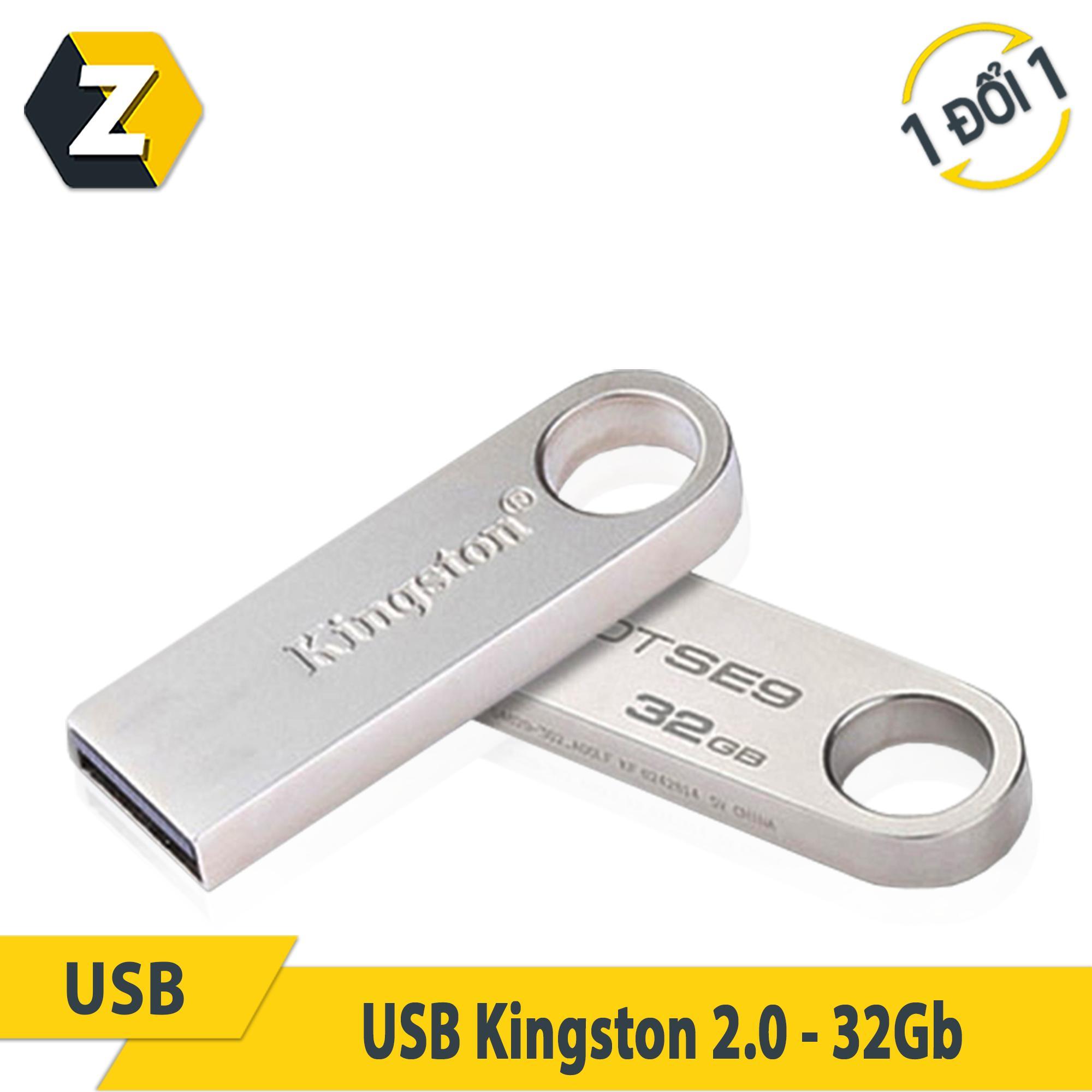USB kingston 32GB DTSE9 2.0 ( VỎ NHÔM / tặng dây đeo usb)