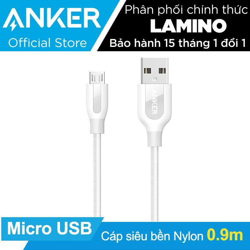 Giá Bán Cáp Sieu Bèn Nylon Anker Powerline Micro Usb Dai 9M Trắng Co Bao Da Hang Phan Phối Chinh Thức Mới