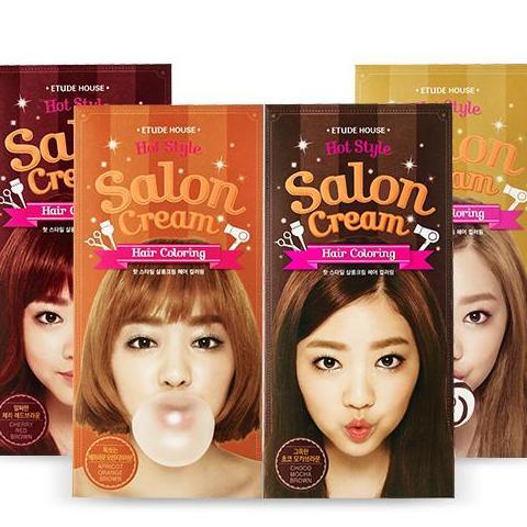 Kem nhuộm tóc SALON CREAM HAIR COLORING Etude House nhập khẩu