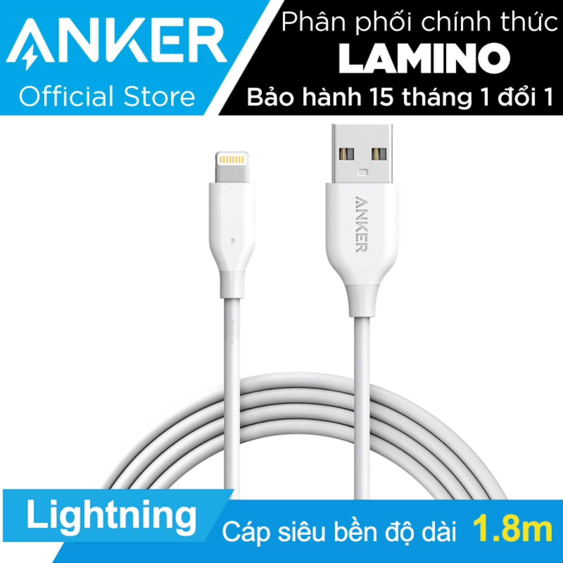 Giá Bán Cap Sạc Sieu Bền Anker Powerline Lightning 1 8M Cho Iphone Ipad Ipod Trắng Hang Phan Phối Chinh Thức Nguyên