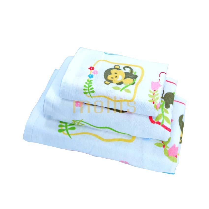 Bán Khăn Tắm Trẻ Em Cotton 2 Lớp Mollis Bm5A Mollis
