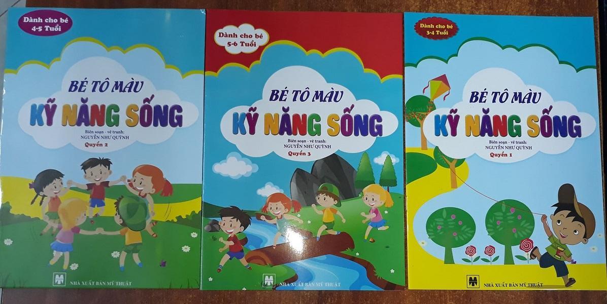 Mua Bộ sách tô màu kỹ năng sống cho các bé mẫu giáo