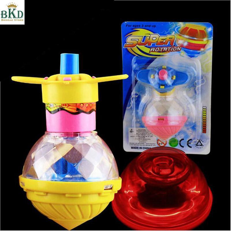 Hình ảnh New Children Flashing Rotating Spinning Top Light Up Dazzling Gyro Toys