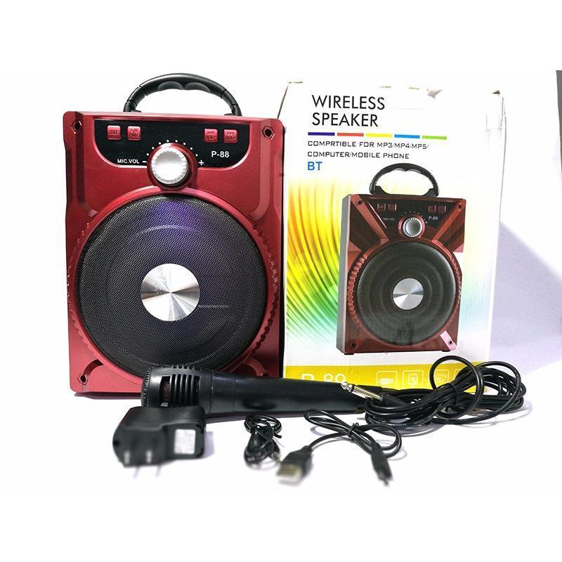 Loa kéo mini di động hát karaoke kết nối bluetooth loại tốt + Tặng kèm micro
