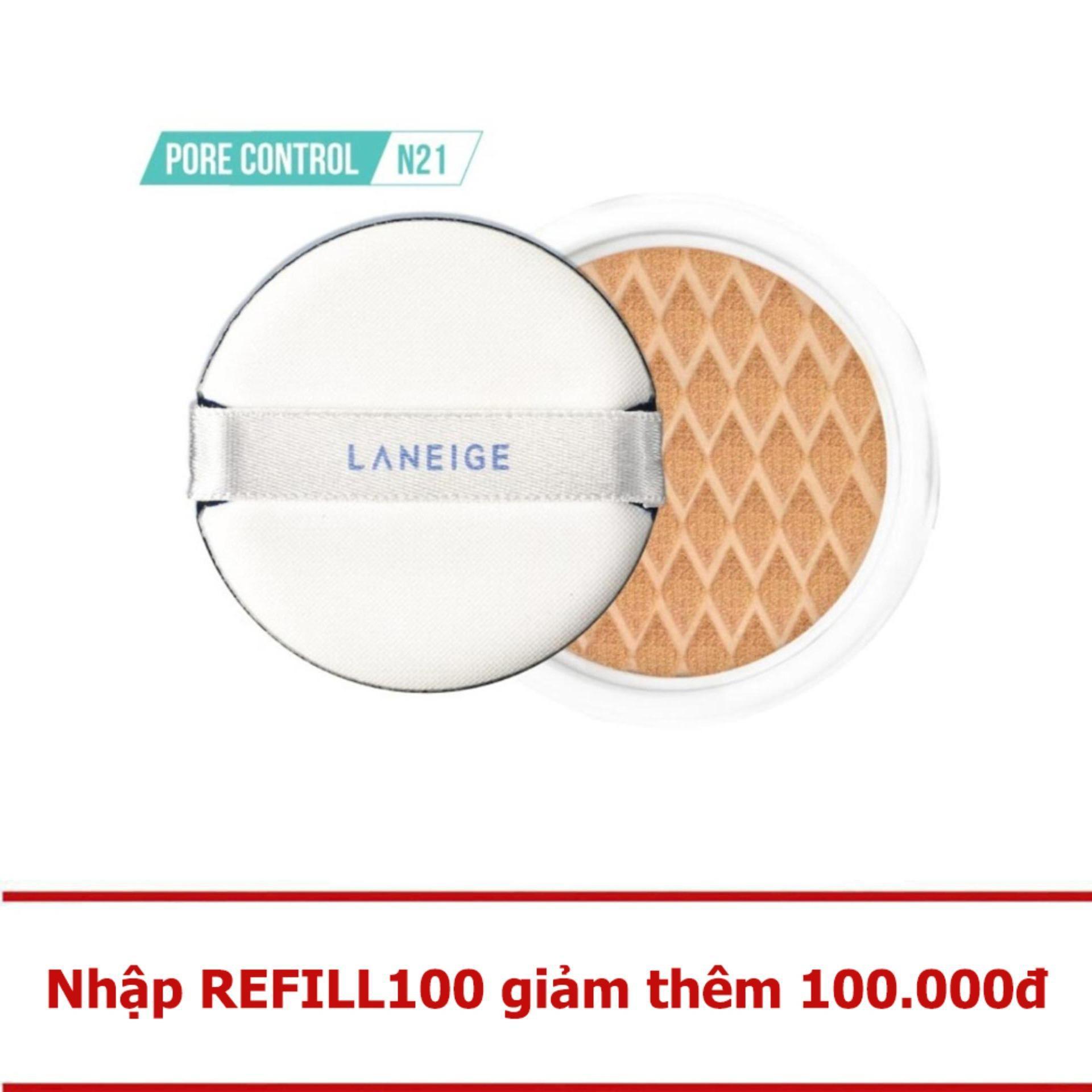 Mã Khuyến Mại Hot Deal Loi Kem Nền Kiềm Dầu Laneige Bb Cushion Pore Control Ex N21 15G Hồ Chí Minh