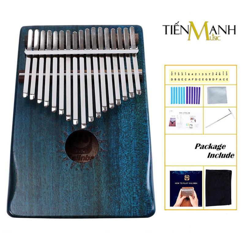 Đàn Kalimba Walter 17 Phím WK-17BL (Xanh - Gỗ Mahogany - Mbira Thumb Finger Piano 17 Keys - Kèm Sticker dán note, Decal xanh đỏ, Búa chỉnh âm, Túi đựng, Khăn lau, Sách học, Móng gẩy Tiến Mạnh Music - Giúp cảm thụ âm nhạc tốt)