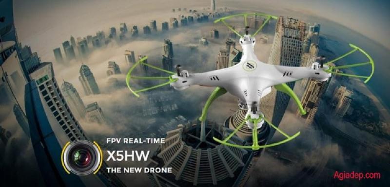 Flycam Drone Syma X5HW (Bản Châu Âu Cao cấp) Máy Bay Quay Phim - Agiadep