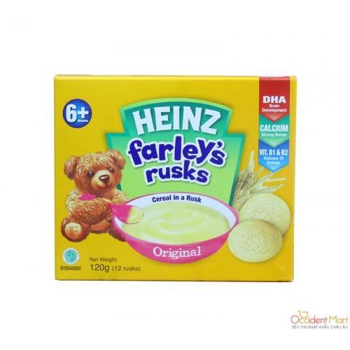 Bánh ăn dặm Heinz Farley's rusks Original 120g 6m+