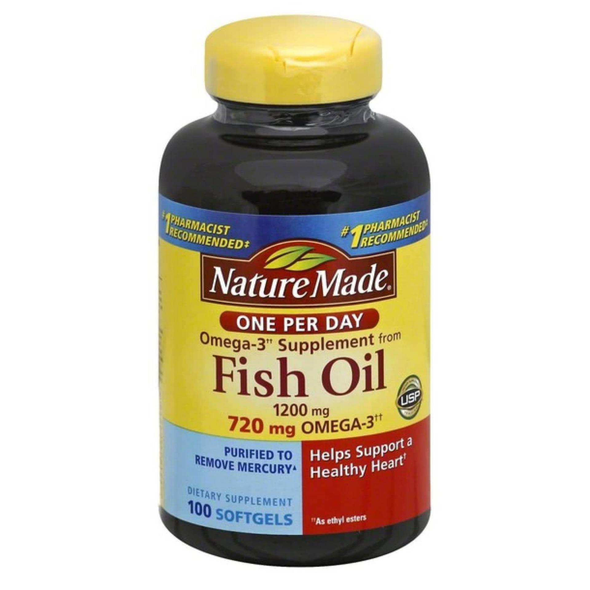 Giá Bán Dầu Ca Nature Made Fish Oil 1200Mg 720Mg Omega 3 100 Vien Nature Made