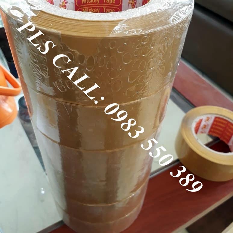 Combo 6 cuộn băng dính dán thùng 0.5kg 1 cuộn Đ